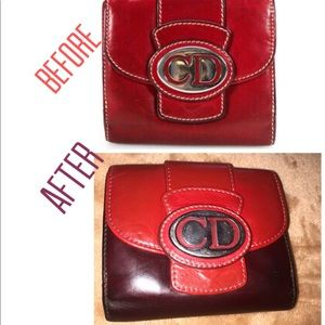 ♥️♥️Christian Dior custom leather wallet (vintage)